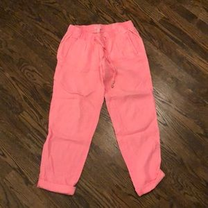 Lilly Pulitzer pink linen Aden Pant